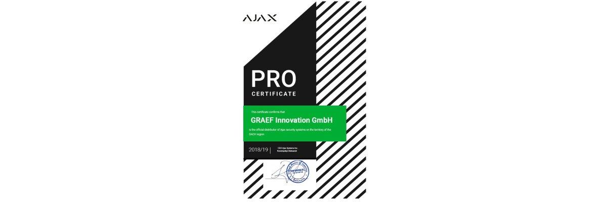 Offizieller Distributor für AJAX Systems im Gebiet D-A-CH - Offizieller Distributor für AJAX Systems im Gebiet D-A-CH