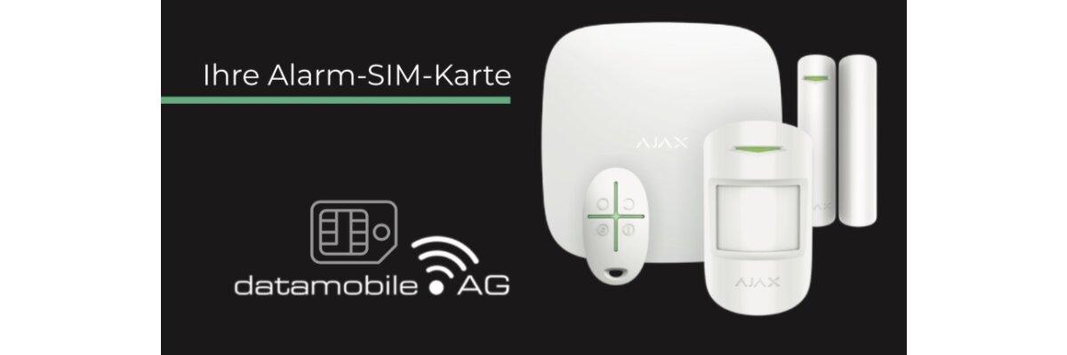 Die neue Alarm-SIM-Karte von DATAMOBILE - Alarm-SIM-Karte von Datamobile für Ihre Alarmanlage