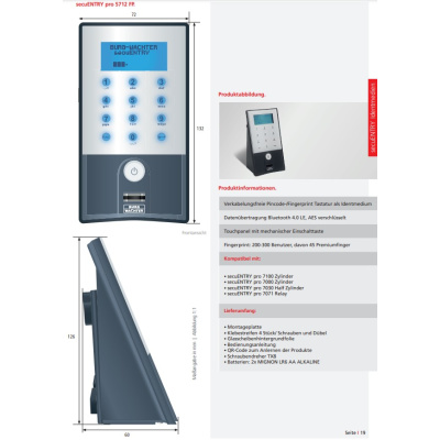 secuENTRY pro 5712 FP Fingerscan